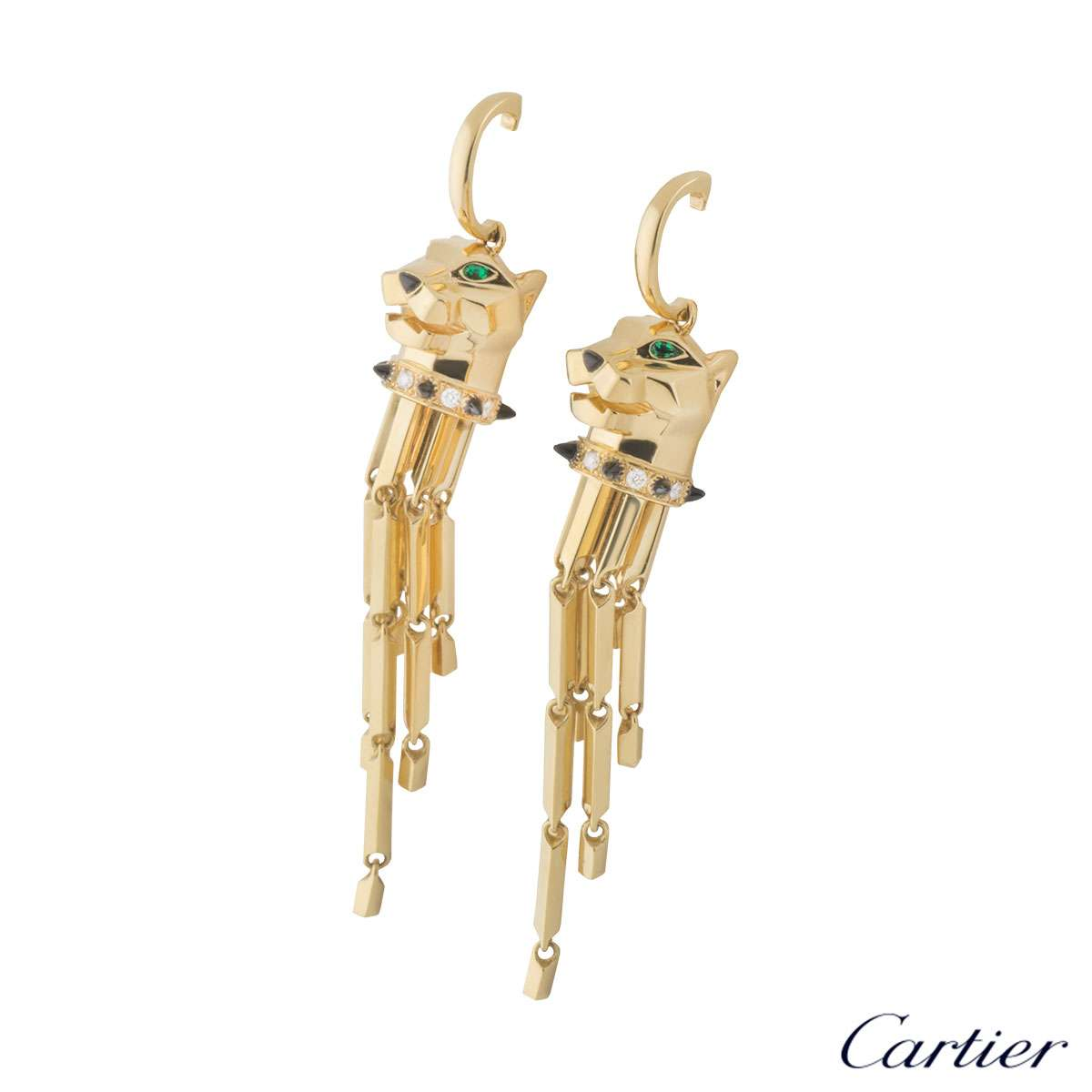 Cartier Yellow Gold Panthere Earrings
